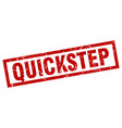 square grunge red quickstep stamp vector image vector image