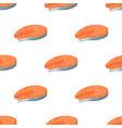 steak salmon seamless pattern isolated on white vector image