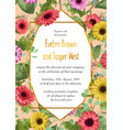 summer floral wedding invitation vector image vector image