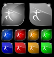 Summer sports Javelin throw icon sign Set of ten vector image vector image