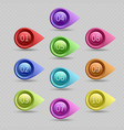 ten color bullet points with numbers vector image vector image