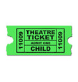 theatre ticket child vector image