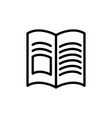 thin line book magazine icon vector image