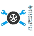 Tire Service Wrenches Icon With Copter Tools Bonus vector image