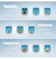 Travel the world Monument concept vector image vector image