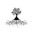 tree life tree natural logo ecology isolated vector image