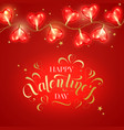 valentine day background with heart shaped light vector image vector image
