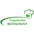 vegetarian background with chef hat vector image vector image