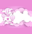 vintage valentine day background with pink air vector image