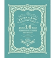 Wedding invitation vintage card vector image vector image