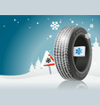 winter tire ready for winter road vector image vector image