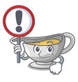 with sign a character dish pouring sauce boat vector image vector image