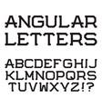 black angular capital letters stylish font vector image