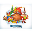 Merry Christmas and Happy New Year Santa Claus vector image