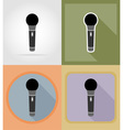 music items and equipment flat icons 04 vector image