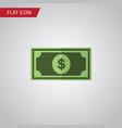 isolated dollar flat icon greenback vector image