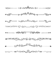 Retro style set of ornate floral patterns template vector image