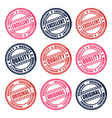 set of stamps vector image