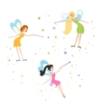 Fairy with a magic wand vector image