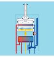 Gas boiler vector image