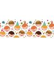 Kids at a birthday party horizontal seamless vector image