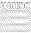 metal fence vector image