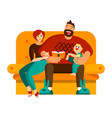 a happy family spends their leisure time together vector image vector image