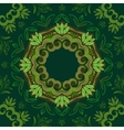 Abstract green floral background with round vector image vector image