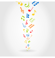 Abstract music vector image vector image