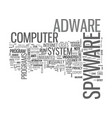 adware cleaner spyware text word cloud concept vector image vector image