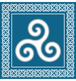 Ancient symbol triskeliontraditional celtic desig vector image vector image