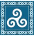 Ancient symbol triskeliontraditional celtic desig vector image