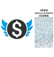 Angel Investment Icon with 1000 Medical Business vector image vector image