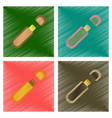 assembly flat shading style icons flash drive vector image