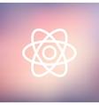 Atom thin line icon vector image