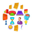 business planning set cartoon style vector image vector image