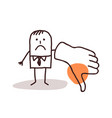 businessman with thumb down vector image