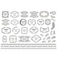 calligraphic design elements decorative swirls vector image vector image
