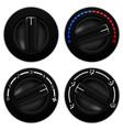car air conditioning black round selectors vector image vector image