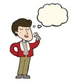 cartoon cool guy snapping fingers with thought vector image vector image