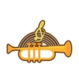 cartoon trumpet instrument music wind vector image vector image