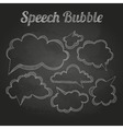 chalk drawings Set of speech bubble Cloud vector image vector image