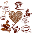 coffee cups 2 380 vector image vector image