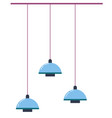 contemporary hanging lamps minimalist interior vector image