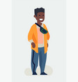 cool flat character design on black millennial vector image