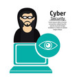 cyber secuirty computer technology hacker vector image vector image