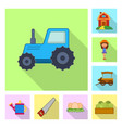 design of farm and agriculture symbol vector image