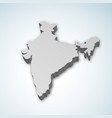 detailed 3d map of india asia vector image vector image