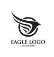eagle logo designs simple elegant vector image vector image