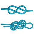 eight knot and double 8 knot instruction against vector image vector image